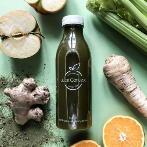 Green Detox Juice Concept Coldpressed Juice