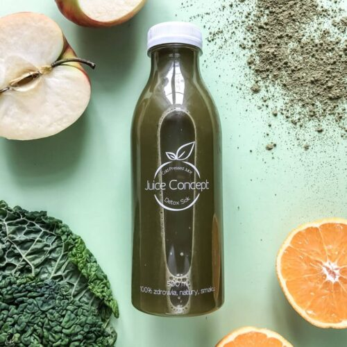 Matcha Tea Juice Concept Coldpressed Juice