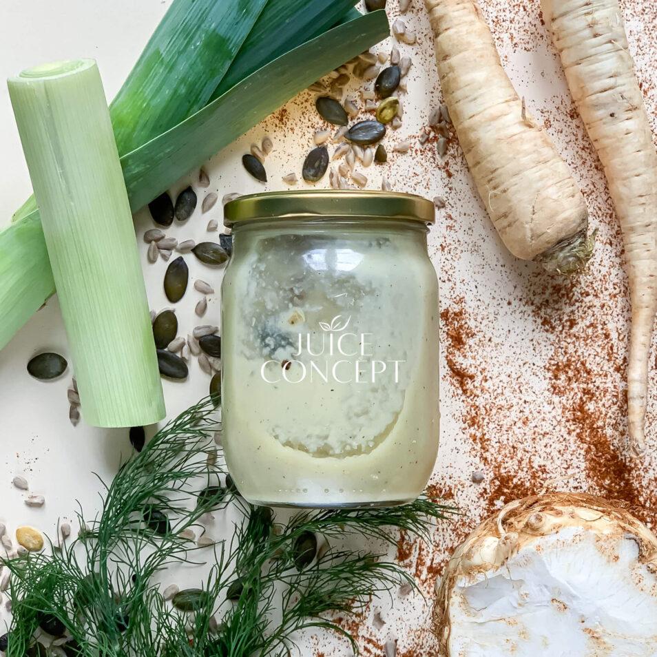 Krem z białych warzyw _ Juice Concept